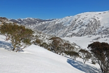 Spring skiing above Guthega, Kosciuszko National Park, NSW
