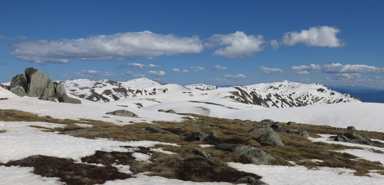 Spring snow on Mt Twynam, Kosciuszko National Park, NSW