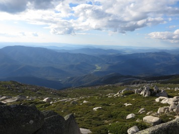 View down Hannels Spur to Geehi, Kosciuszko National Park, NSW