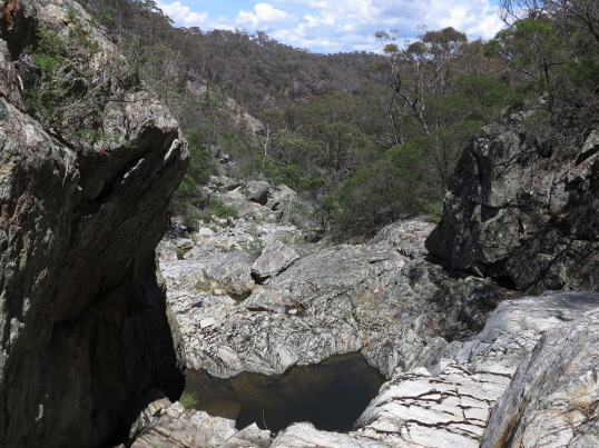 Creek gorge above the Queanbeyan River. Googong foreshores, ACT